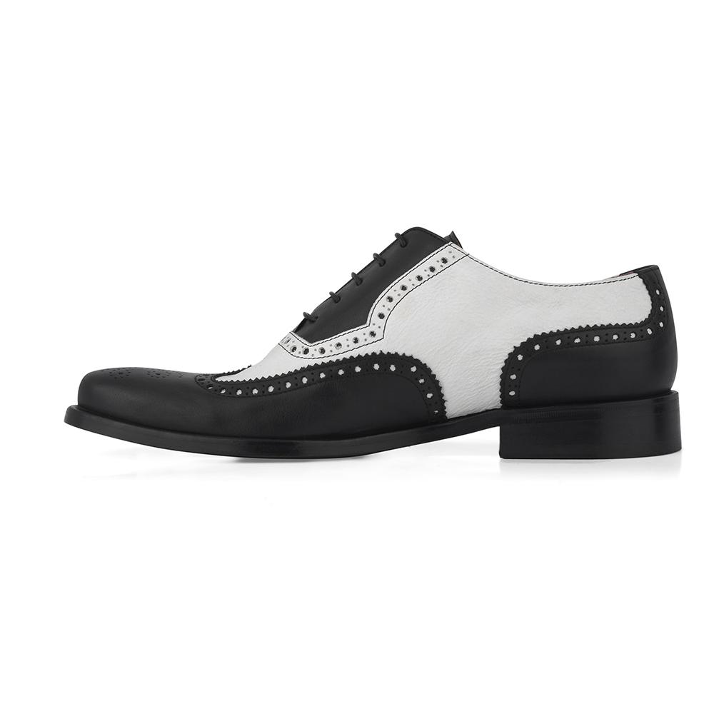 scarpe stile inglese bicolore